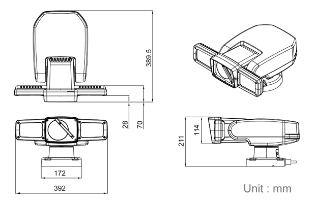 all-in-one rugged mobile ir ptz camera w   pip  wiper