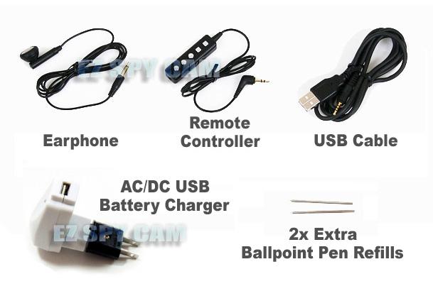 black stealth spy pen digital voice recorder w   remote